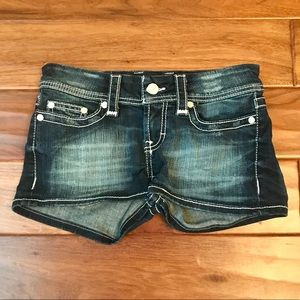 BKE Sabrina Distressed Denim Shorts